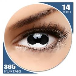 Crazy Split Eye - lentile de contact colorate albe anuale - 360 purtari (2 lentile/cutie)