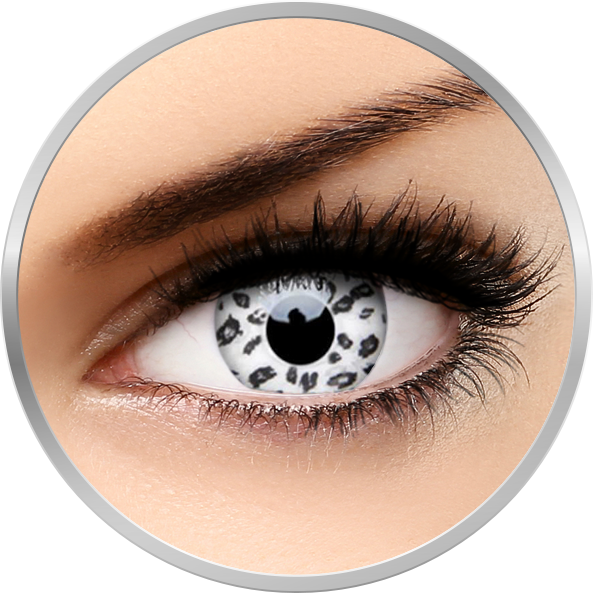 Crazy White Leopard – lentile de contact colorate albe anuale – 360 purtari (2 lentile/cutie) de la ColourVUE