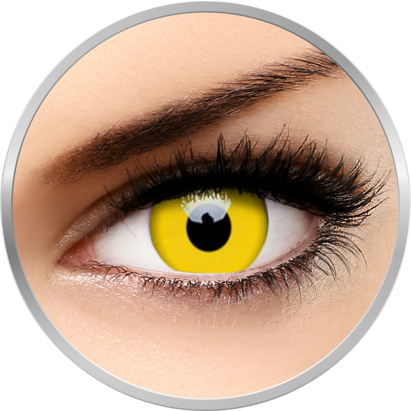 Crazy Yellow – lentile de contact colorate galbene anuale – 360 purtari (2 lentile/cutie) de la ColourVUE