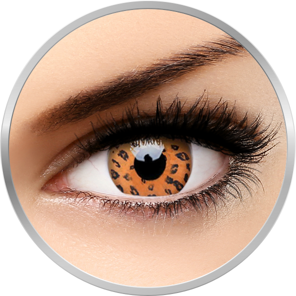 Crazy Yellow Leopard – lentile de contact colorate galbene anuale – 360 purtari (2 lentile/cutie) de la ColourVUE