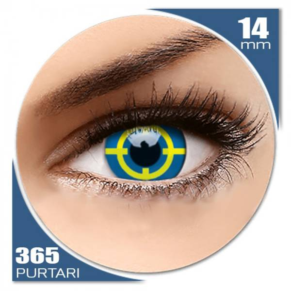 ColourVUE Crazy Yellow Target - lentile de contact colorate galbene anuale - 360 purtari (2 lentile/cutie)