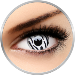 ColourVUE Crazy Zebra - lentile de contact colorate albe anuale - 360 purtari (2 lentile/cutie)