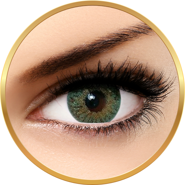 Bella Natural Looking Lenses Green - lentile de contact colorate verzi trimestriale - 90 purtari (2 lentile/cutie)