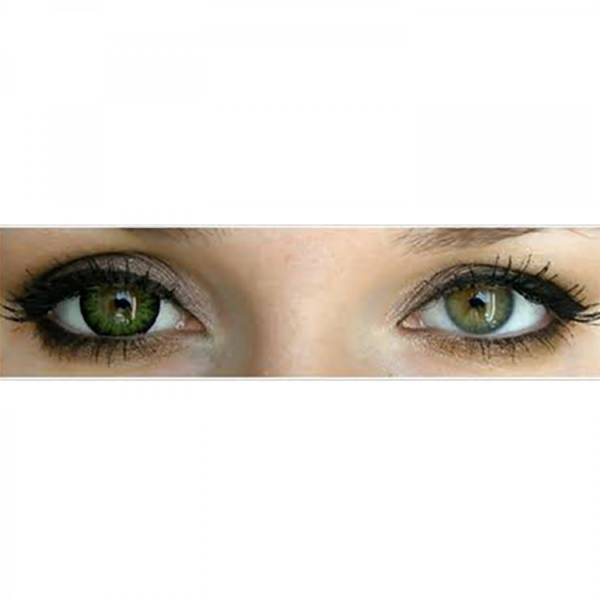 Phantasee Natural Green - lentile de contact colorate verzi trimestriale - 90 purtari (2 lentile/cutie)