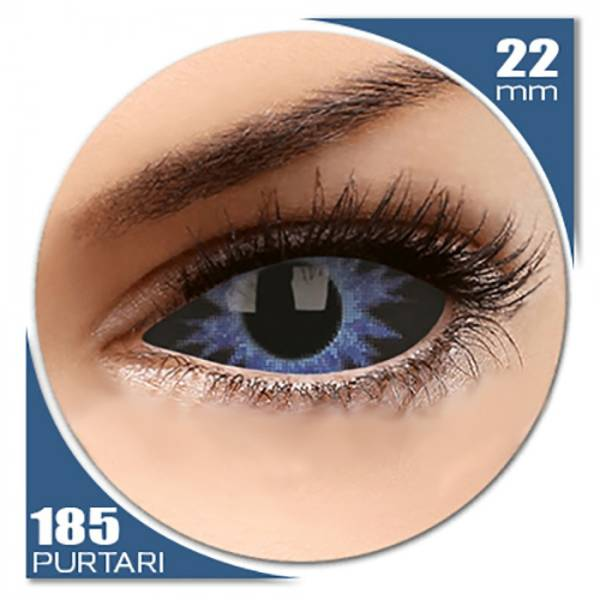 ColourVUE Sclera Thanos - lentile de contact colorate albastre anuale - 185 purtari (2 lentile/cutie)