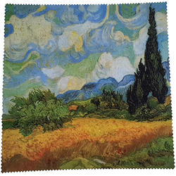 Green Ideas Laveta microfibra Wheatfield with Cypresses