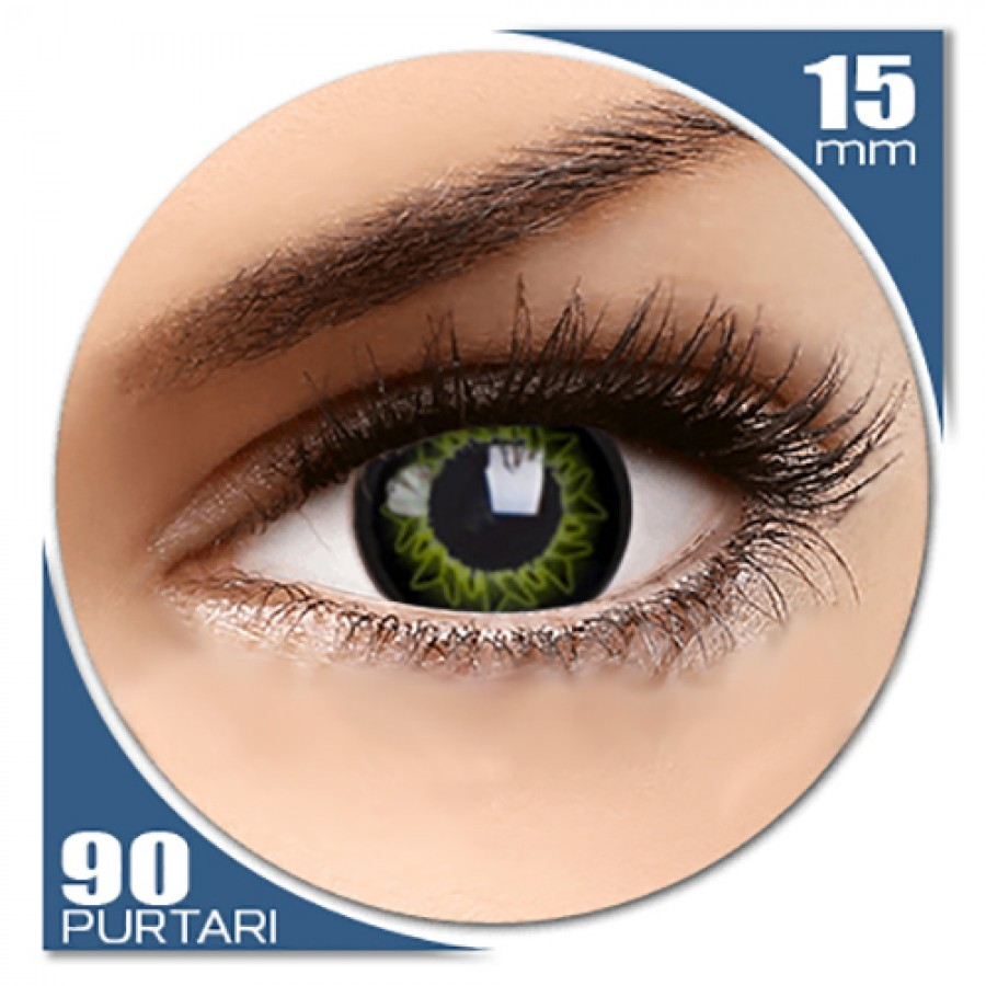 Starburst Green – lentile de contact colorate verzi trimestriale – 90 purtari (2 lentile/cutie) de la ColourVUE
