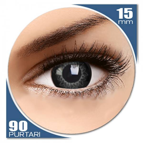 ColourVUE Starburst Grey - lentile de contact colorate gri trimestriale - 90 purtari (2 lentile/cutie)