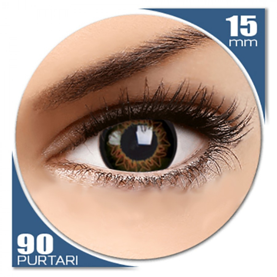 Starburst Brown – lentile de contact colorate caprui trimestriale – 90 purtari (2 lentile/cutie) de la ColourVUE