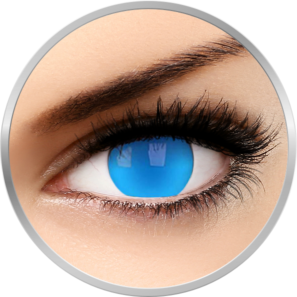ColourVUE Glow Electric Blue - lentile de contact colorate albastre anuale - 360 purtari (2 lentile/cutie)