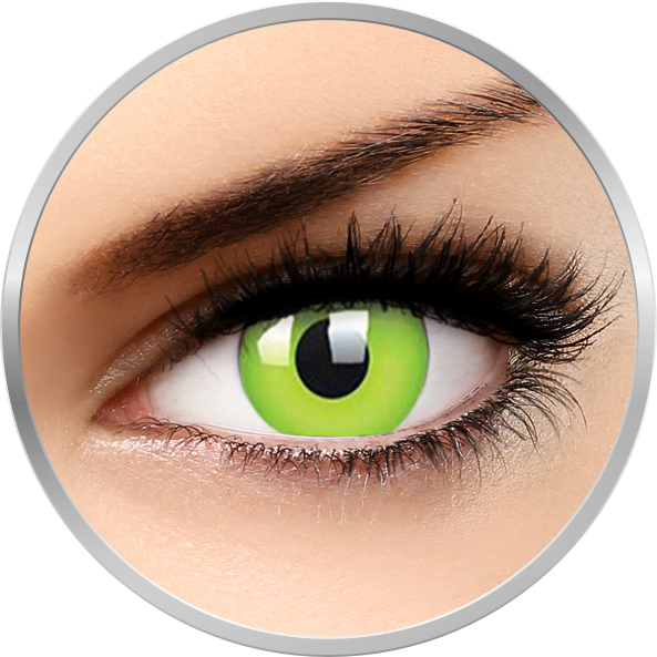 Glow Green - lentile de contact colorate Crazy verzi anuale - 360 purtari (2 lentile/cutie)