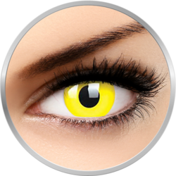 ColourVUE Glow Yellow - lentile de contact colorate Crazy galbene anuale - 360 purtari (2 lentile/cutie)