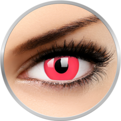 ColourVUE Glow Red - lentile de contact colorate Crazy rosii anuale - 360 purtari (2 lentile/cutie)