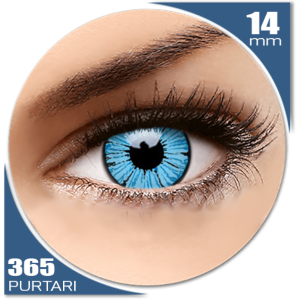 ColourVUE Crazy Blizzard - lentile de contact colorate albastre anuale - 360 purtari (2 lentile/cutie)