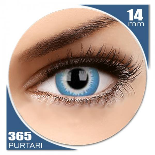 ColourVUE Crazy Blue Elf - lentile de contact colorate verzi anuale - 360 purtari (2 lentile/cutie)