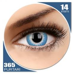 Crazy Blue Elf - lentile de contact colorate verzi anuale - 360 purtari (2 lentile/cutie)