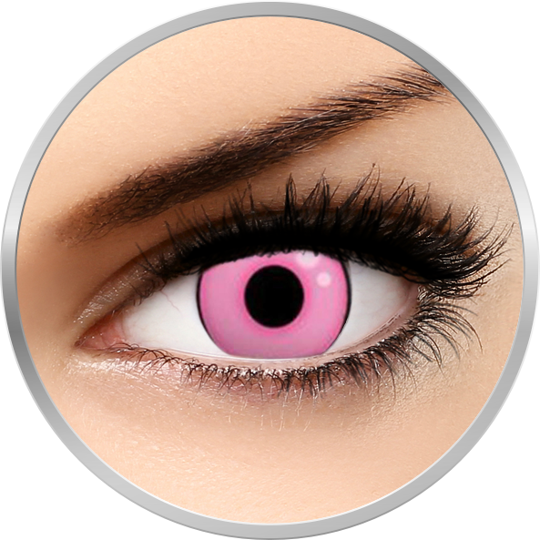 Crazy Hot Pink - lentile de contact colorate roz anuale - 360 purtari (2 lentile/cutie)