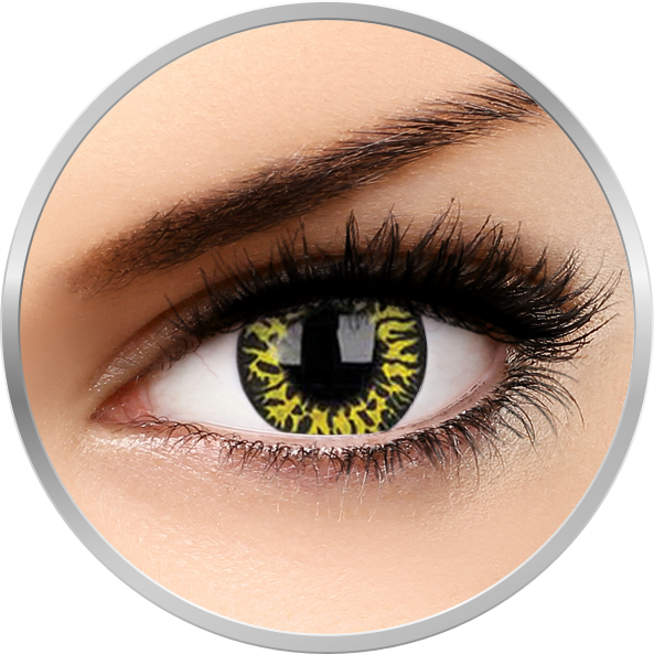 Crazy Yellow Eclipse – lentile de contact colorate verzi anuale – 360 purtari (2 lentile/cutie) de la ColourVUE