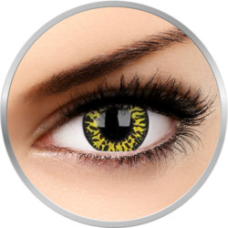 Crazy Yellow Eclipse - lentile de contact colorate verzi anuale - 360 purtari (2 lentile/cutie)
