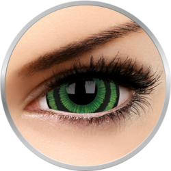 ColourVUE Crazy Green Goblin - lentile de contact colorate albe anuale - 360 purtari (2 lentile/cutie)