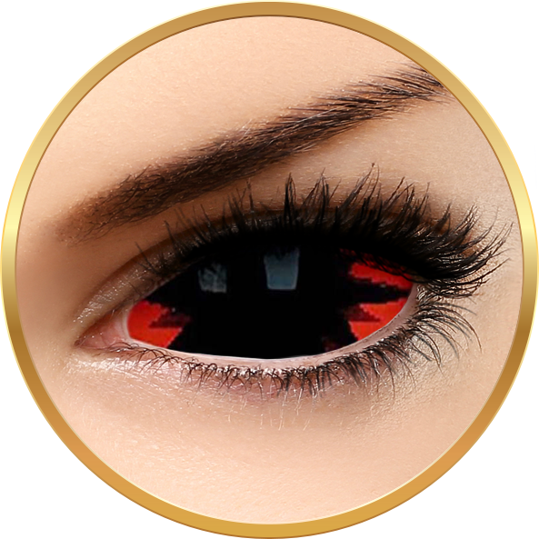 ColourVUE Sclera Omega Red - lentile de contact colorate albastre anuale - 185 purtari (2 lentile/cutie)