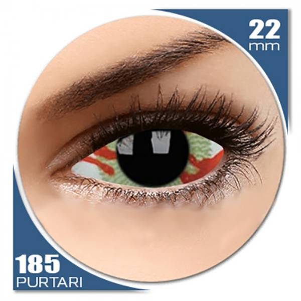 ColourVUE Sclera Contagion - lentile de contact colorate negre anuale - 185 purtari (2 lentile/cutie)