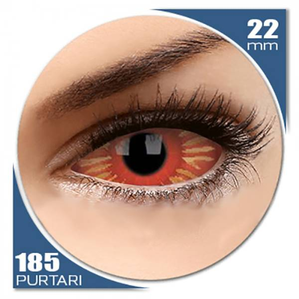 ColourVUE Sclera Centurious - lentile de contact colorate negre anuale - 185 purtari (2 lentile/cutie)