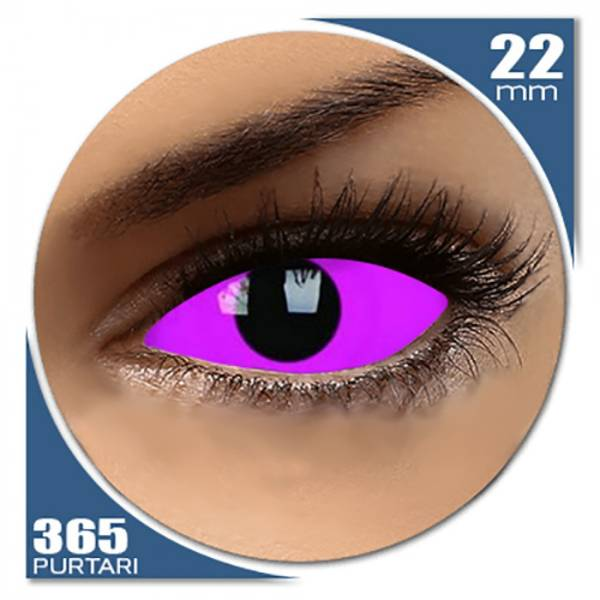 ColourVUE Glow Raiden Pink - lentile de contact colorate roz anuale - 360 purtari (2 lentile/cutie)