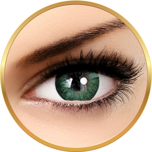 Adore Dare Green - Lentile De Contact Colorate Verzi Trimestriale - 90 Purtari (2 Lentile/cutie)