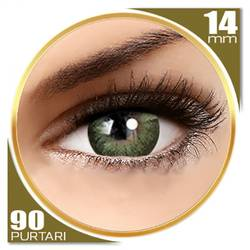 Adore Dare Yellow - lentile de contact colorate verzi trimestriale - 90 purtari (2 lentile/cutie)