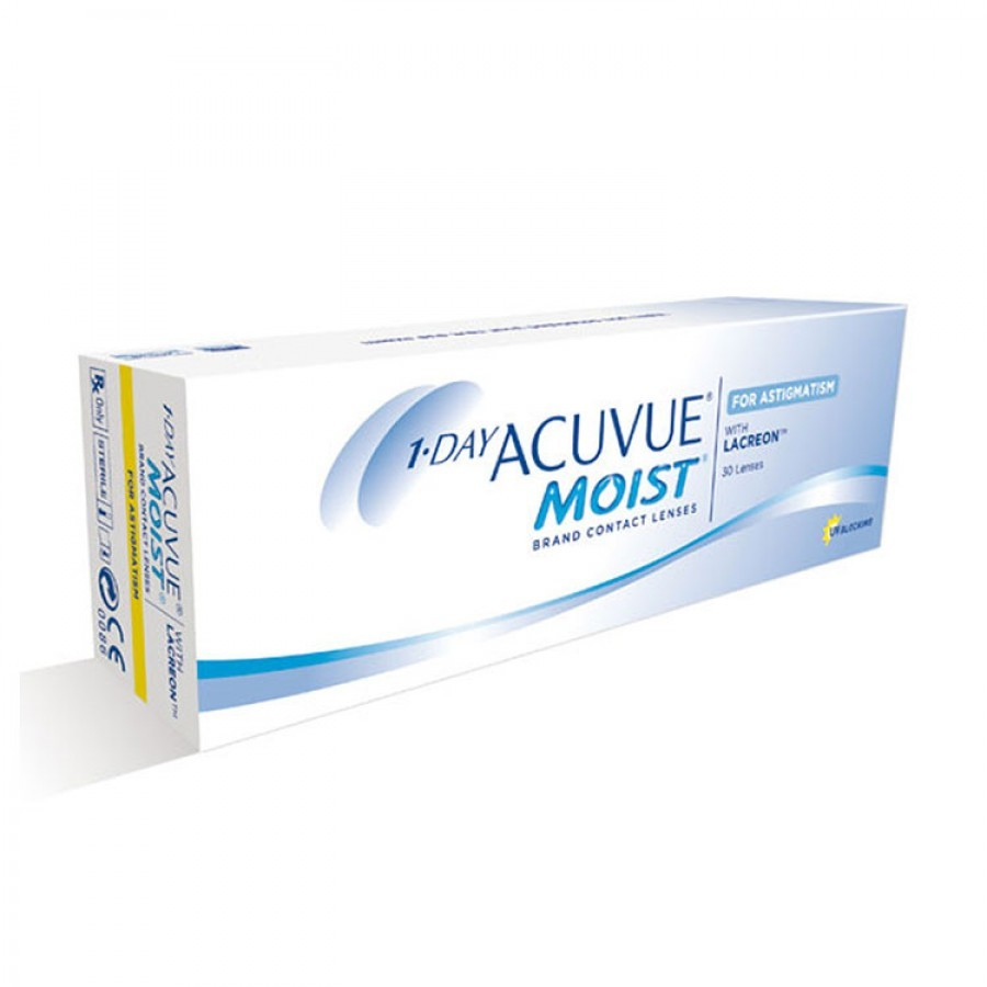 Johnson&Johnson 1 Day Acuvue Moist for Astigmatism zilnice 30 lentile / cutie