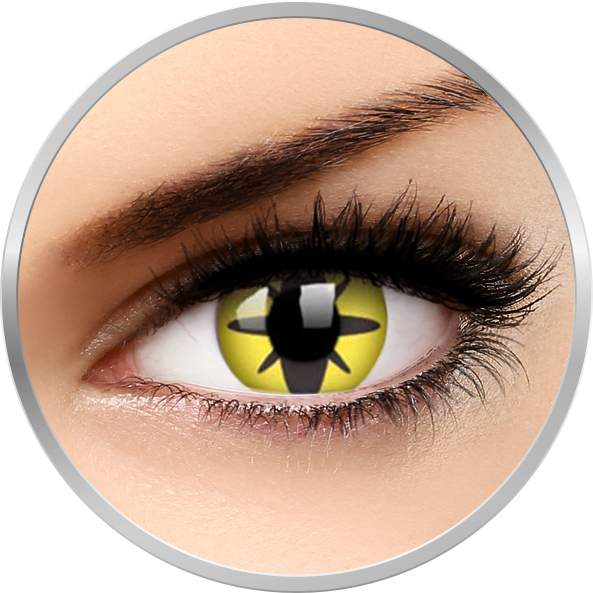 ColourVUE Crazy Yellow Flower – lentile de contact colorate galbene anuale – 360 purtari (2 lentile/cutie)