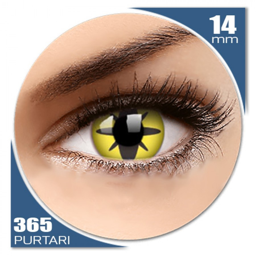 Crazy Yellow Flower – lentile de contact colorate galbene anuale – 360 purtari (2 lentile/cutie)