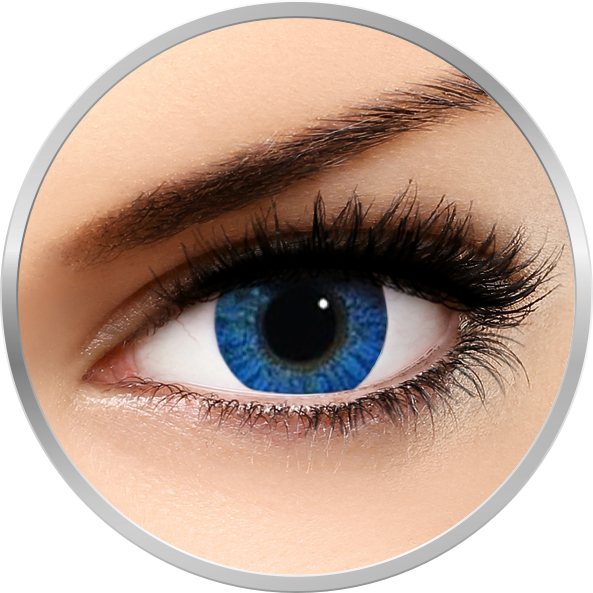 Freshlook Colorblends Brilliant Blue - lentile de contact colorate albastre lunare - 30 purtari (2 lentile/cutie)