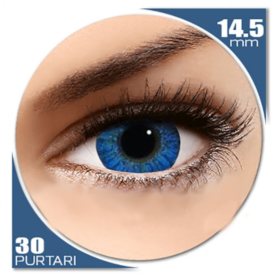 Freshlook Colorblends Brilliant Blue – lentile de contact colorate albastre lunare – 30 purtari (2 lentile/cutie)