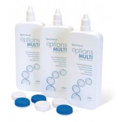 Solutie intretinere lentile de contact Options Multi 3x250 ml + suport lentile cadou