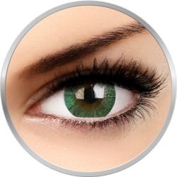 Lovely Eyes Paris Green - lentile de contact colorate verzi lunare - 30 purtari (2 lentile/cutie)