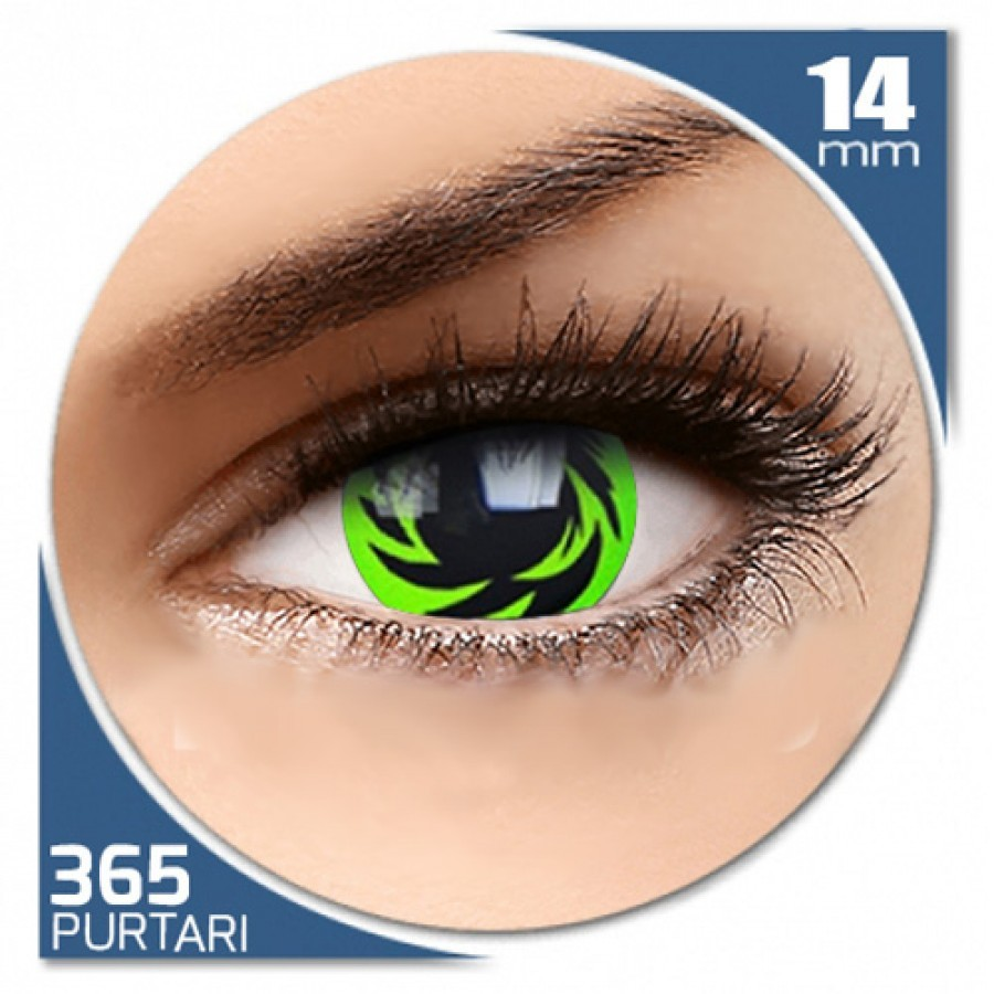 Fancy Autumn – lentile de contact colorate verzi/negre anuale – 360 purtari (2 lentile/cutie)