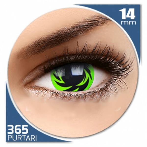 Phantasee Fancy Autumn - lentile de contact colorate verzi/negre anuale - 360 purtari (2 lentile/cutie)