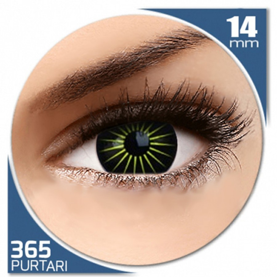 Fancy Blastar – lentile de contact colorate verzi/negre anuale – 360 purtari (2 lentile/cutie)