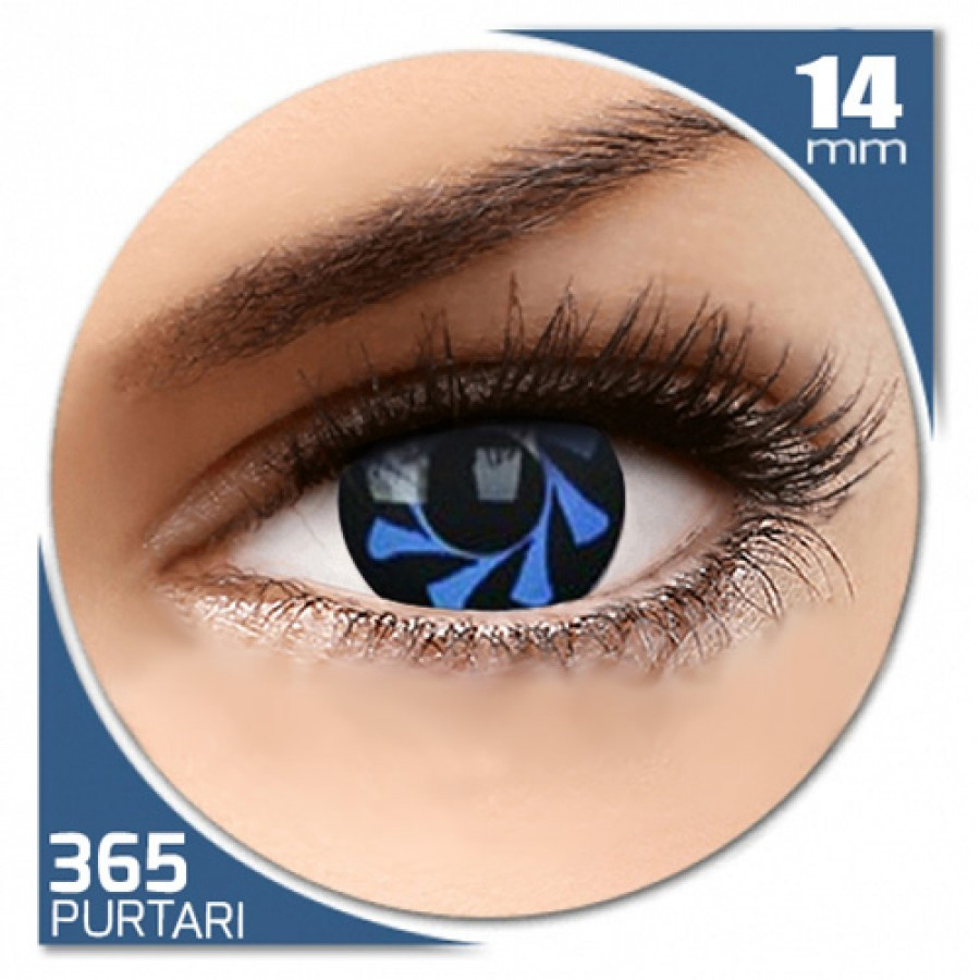 Fancy Blue Spin – lentile de contact colorate albastre/negre anuale – 360 purtari (2 lentile/cutie)