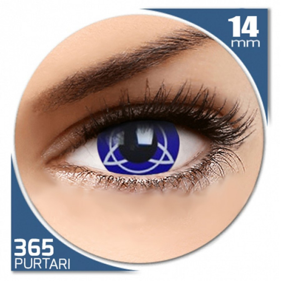 Fancy Charmed – lentile de contact colorate albe/albastre anuale – 360 purtari (2 lentile/cutie)