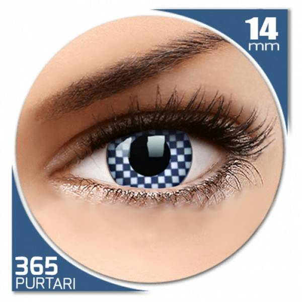Phantasee Fancy Chequered - lentile de contact colorate albe anuale - 360 purtari (2 lentile/cutie)