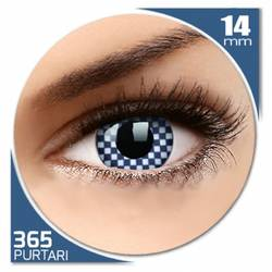 Fancy Chequered - lentile de contact colorate albe anuale - 360 purtari (2 lentile/cutie)