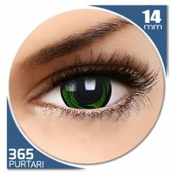 Fancy Green Galaxy - lentile de contact colorate verzi/negre anuale - 360 purtari (2 lentile/cutie)