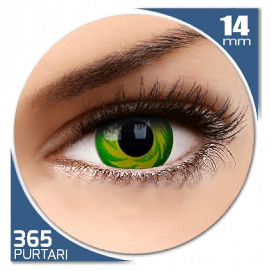 Fancy Green Tornado – lentile de contact colorate verzi anuale – 360 purtari (2 lentile/cutie)