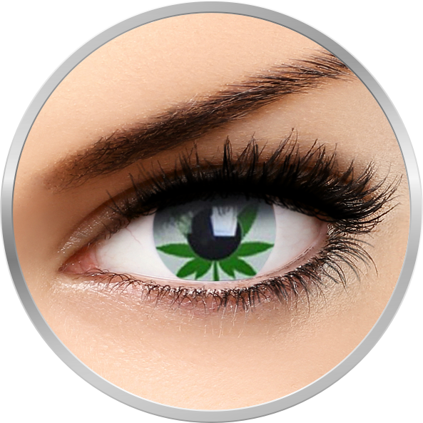 Phantasee Fancy Marijuana – lentile de contact colorate verzi/albe anuale – 360 purtari (2 lentile/cutie)