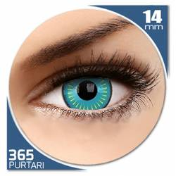 Fancy Nova - lentile de contact colorate albastre anuale - 360 purtari (2 lentile/cutie)