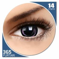 Fancy Pink Galaxy - lentile de contact colorate roz/negre anuale - 360 purtari (2 lentile/cutie)