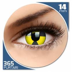 Fancy Radiate - lentile de contact colorate galbene/negre anuale - 360 purtari (2 lentile/cutie)